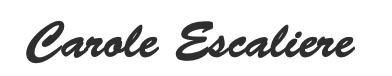 Signature de Carole Escaliere
